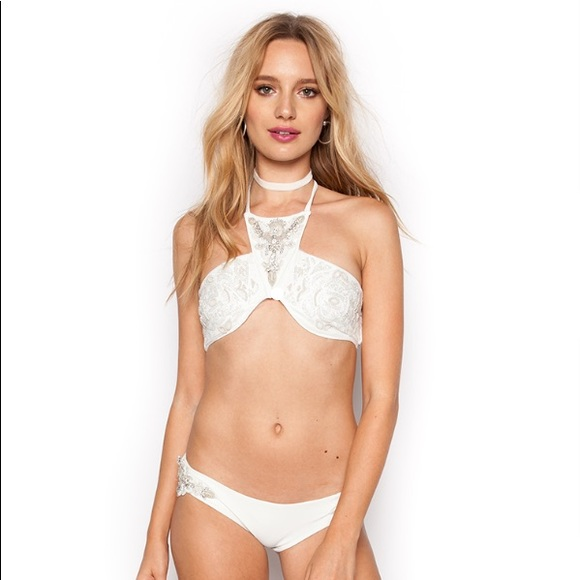 c99e400a79f Beach Riot Swim | Rare Bridal White Beaded Bikini | Poshmark